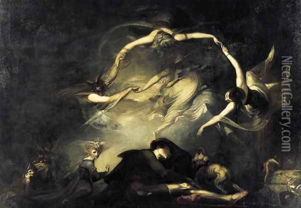 The Shepherd's Dream 1793 Oil Painting - Johann Henry Fuseli