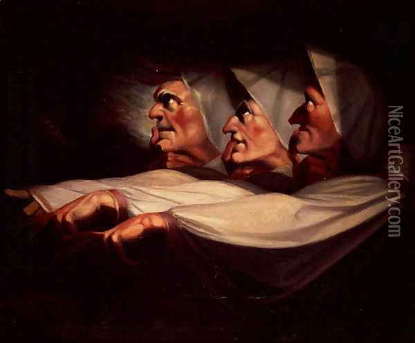 Three Witches Oil Painting - Johann Henry Fuseli