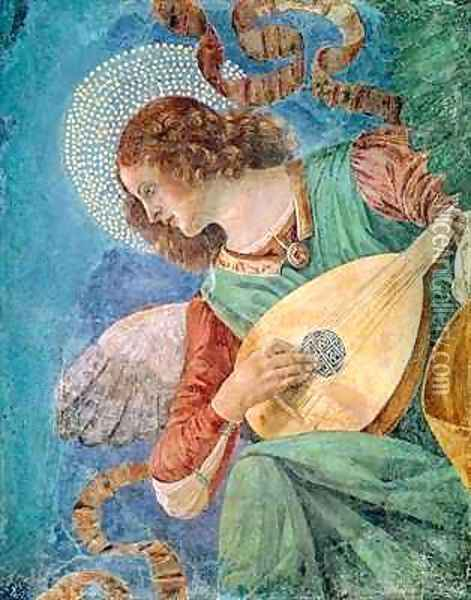 Angel Musician 2 Oil Painting - Melozzo da Forli