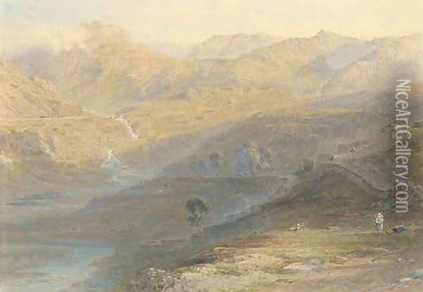 Nant Ffancon, North Wales Sunrise Oil Painting - George Arthur Fripp
