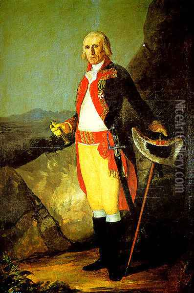 Jose de Urrutia y de las Casas general Oil Painting - Francisco De Goya y Lucientes