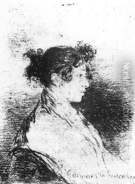 Gumersinda Goicoechea, Goya's Daughter-in-Law Oil Painting - Francisco De Goya y Lucientes