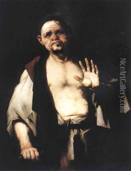 The Philosopher Cratetes c. 1650 Oil Painting - Luca Giordano