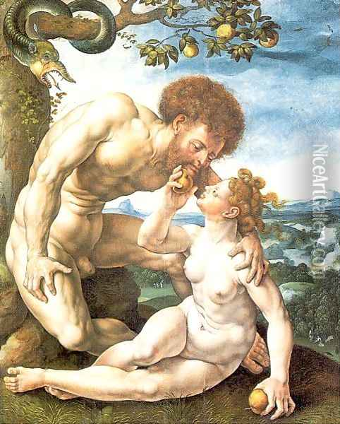 Adam and Eve 1525 2 Oil Painting - Jan Mabuse