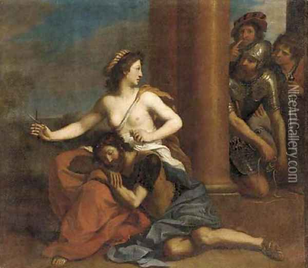 Samson and Delilah Oil Painting - Giovanni Francesco Barbieri