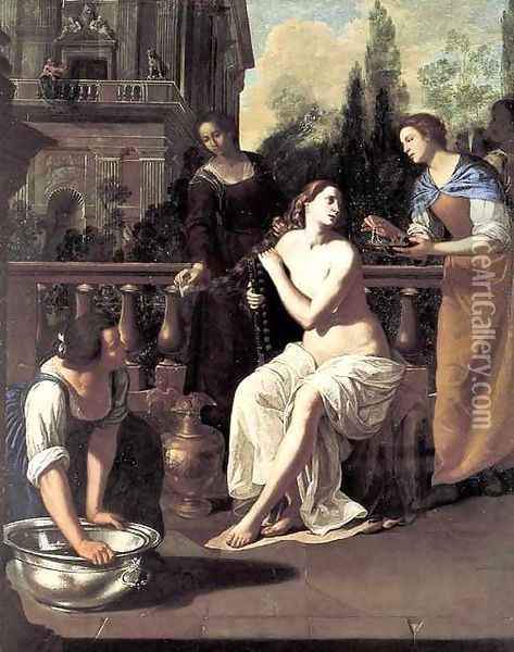 David and Bathsheba Oil Painting - Artemisia Gentileschi