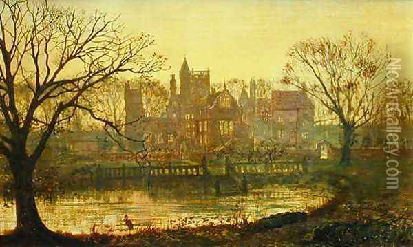 The Moated Grange Oil Painting - John Atkinson Grimshaw