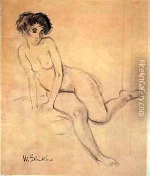Nude 2 Oil Painting - William Glackens
