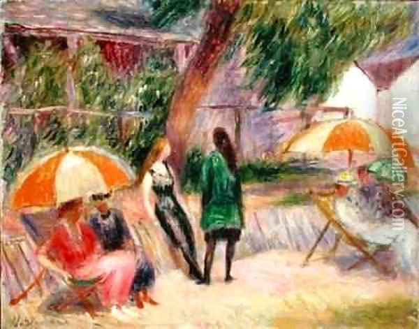 Landscape with Figures Oil Painting - William Glackens