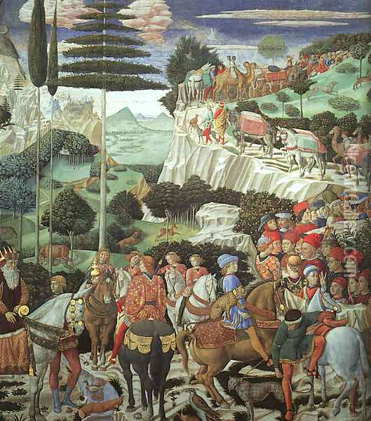 Procession of the Magus Melchoir 1459 Oil Painting - Benozzo di Lese di Sandro Gozzoli