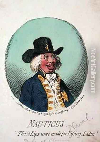 Nauticus or Those Lips were made for Kissing Ladies Oil Painting - James Gillray