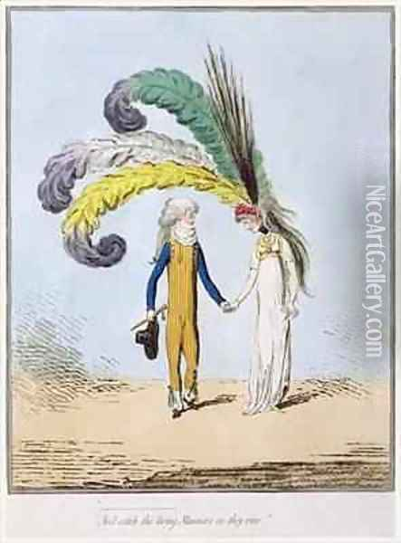 And catch the living Manners as they rise Oil Painting - James Gillray
