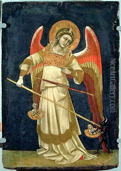The Archangel Michael Oil Painting - Ridolfo di Arpo Guariento
