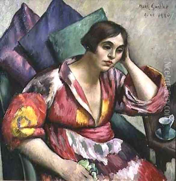 The Bokhara Coat Oil Painting - Mark Gertler
