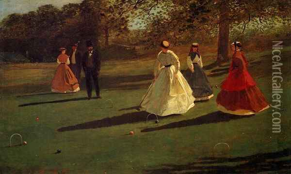 Croquet Players Oil Painting - Winslow Homer