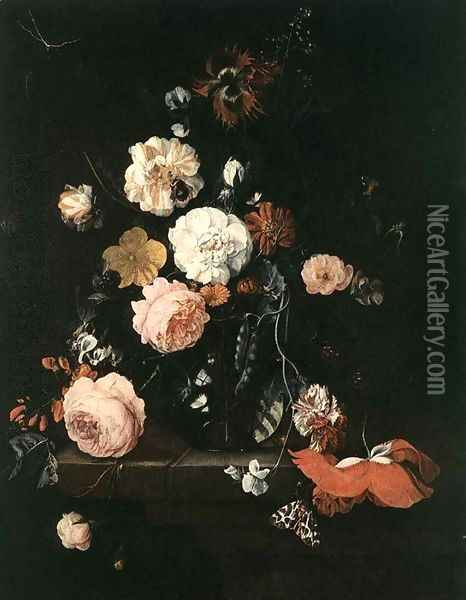 Flower Still-Life Oil Painting - Cornelis De Heem