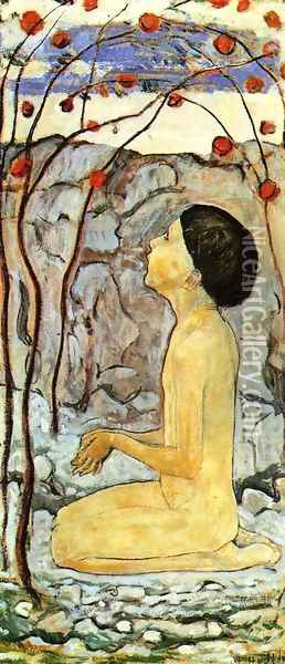 Adoration (III) Oil Painting - Ferdinand Hodler