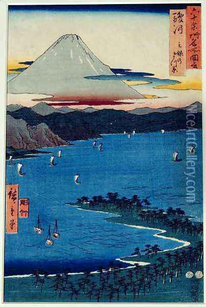 Pine moor at Mio Suruga Province from Famous Places of the Sixty Provinces Oil Painting - Utagawa or Ando Hiroshige