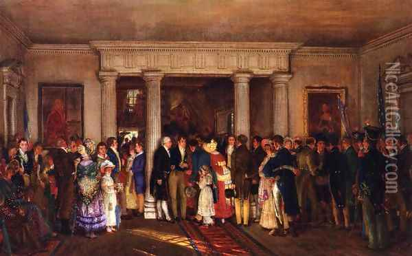 The Lafayette Reception Oil Painting - Edward Lamson Henry