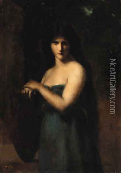 At the fountain Oil Painting - Jean-Jacques Henner