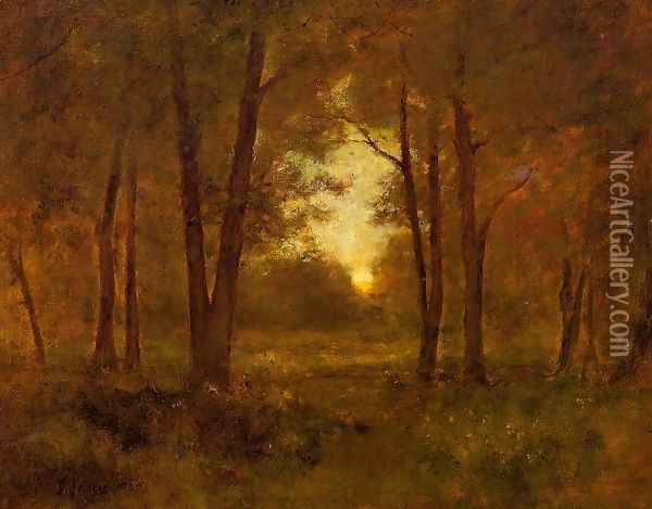 Sundown Near Montclair Oil Painting - George Inness