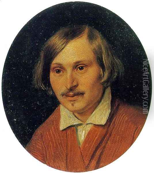 Portrait of Nikolai Gogol 1841 Oil Painting - Alexander Ivanov
