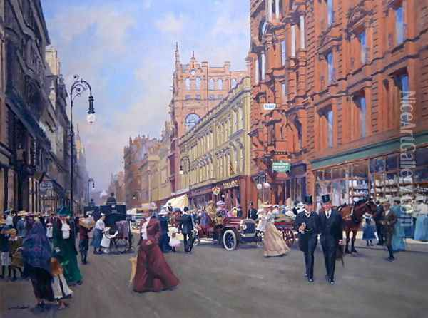 Buchanan Street in 1910 Oil Painting - Samuel Ireland