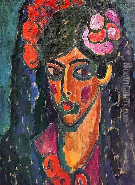 Spanish Woman 2 Oil Painting - Alexei Jawlensky