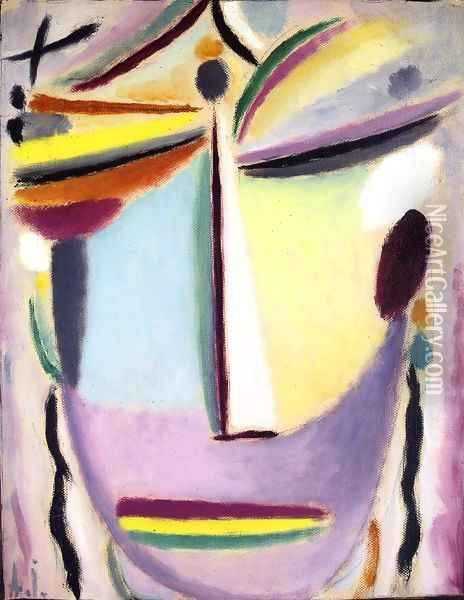 Heros (Illuminating) Oil Painting - Alexei Jawlensky