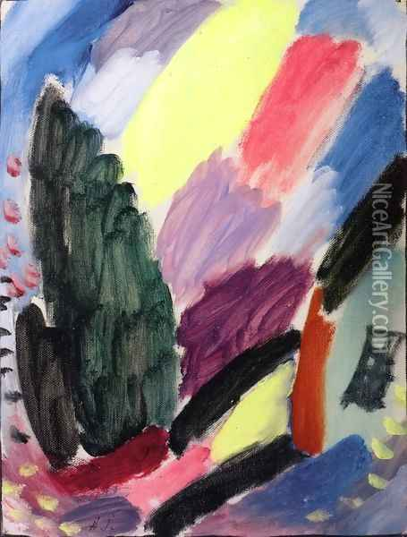 Variation I Oil Painting - Alexei Jawlensky
