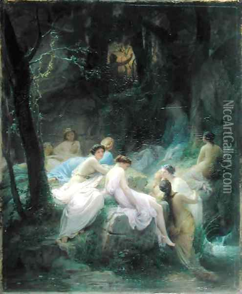 Nymphs Listening to the Songs of Orpheus 2 Oil Painting - Charles Francois Jalabert
