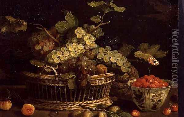 Still life with fruit Oil Painting - Jan van Kessel