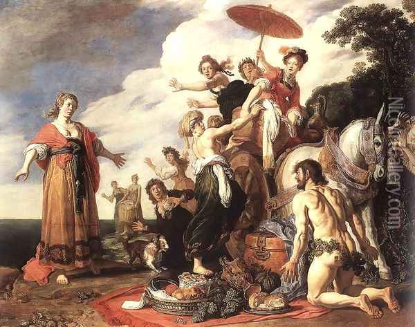 Odysseus and Nausicaa 1619 Oil Painting - Pieter Pietersz. Lastman