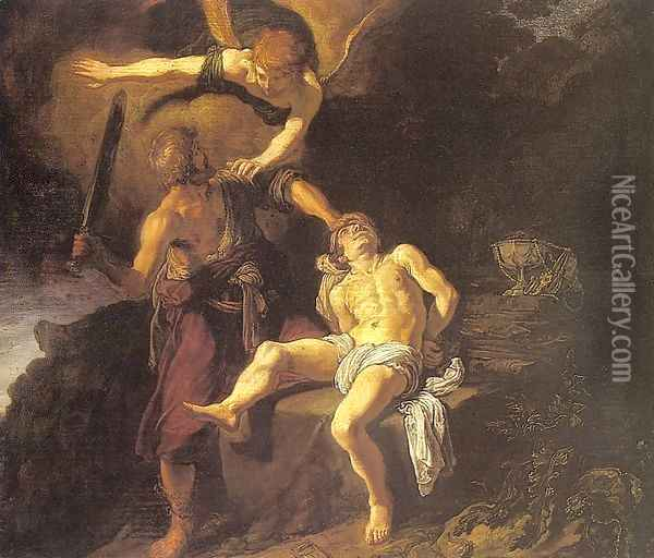 The Sacrifice of Abraham 1616 Oil Painting - Pieter Pietersz. Lastman