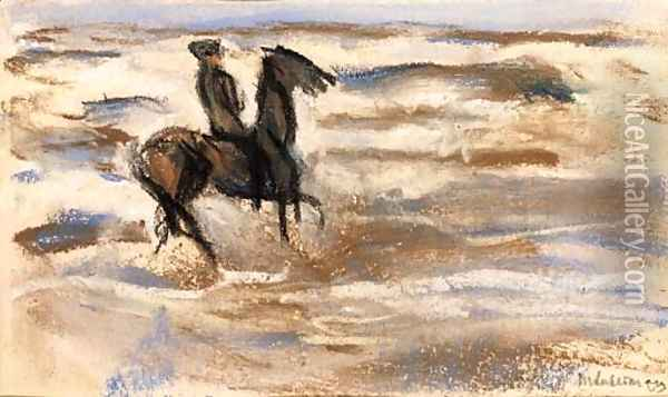 A rider on the beach Oil Painting - Max Liebermann
