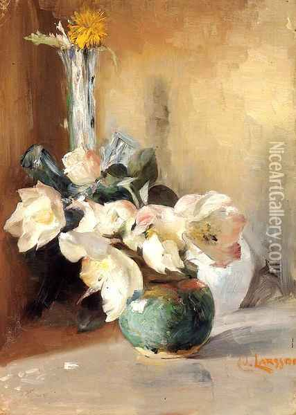 Christmas Roses Oil Painting - Carl Larsson