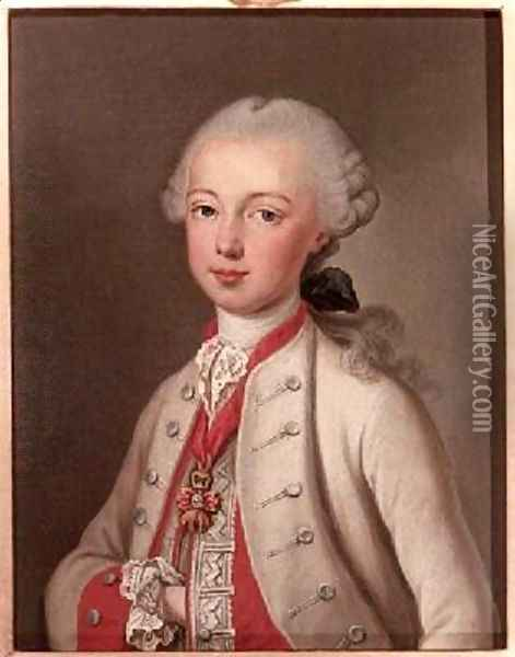 Leopold II 1747-92 Holy Roman Emperor and Grand-duke of Tuscany 1762 Oil Painting - Etienne Liotard