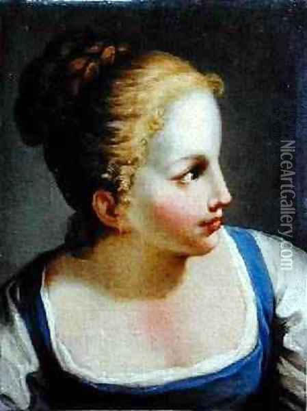 Head of a Young Girl Oil Painting - Benedetto Luti