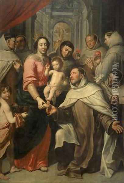 The Virgin of the Carmelites Oil Painting - Pieter van Lint