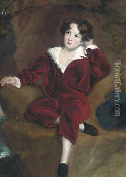 Master Lambton 'The red boy' Oil Painting - Sir Thomas Lawrence