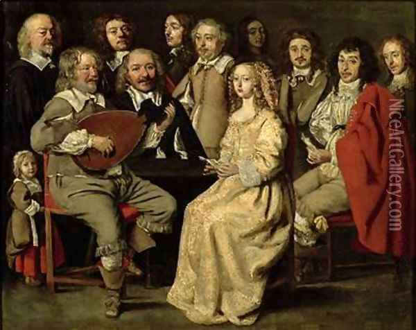 The Musical Reunion Oil Painting - Antoine Le Nain