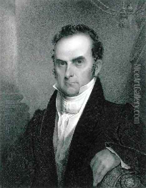 Daniel Webster 1782-1852 Oil Painting - James Barton Longacre