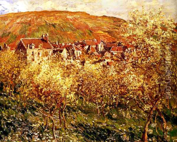 Apple Trees In Blossom Oil Painting - Claude Oscar Monet