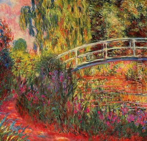 The Water Lily Pond Aka Japanese Bridge2 Oil Painting - Claude Oscar Monet