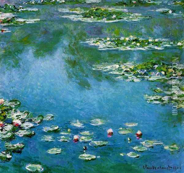Water-Lilies XV Oil Painting - Claude Oscar Monet