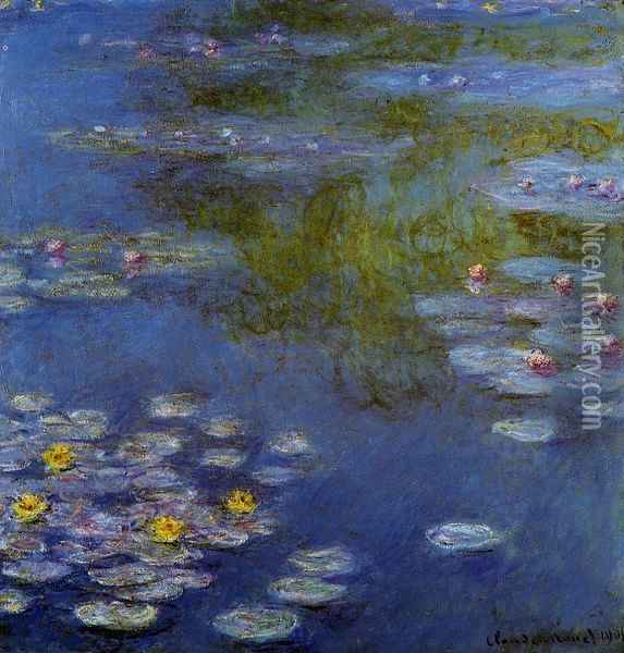 Water-Lilies 17 Oil Painting - Claude Oscar Monet
