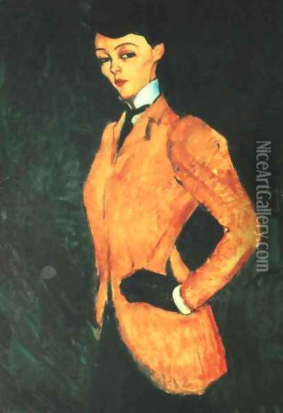 Equestrienne (L'Amazone) Oil Painting - Amedeo Modigliani