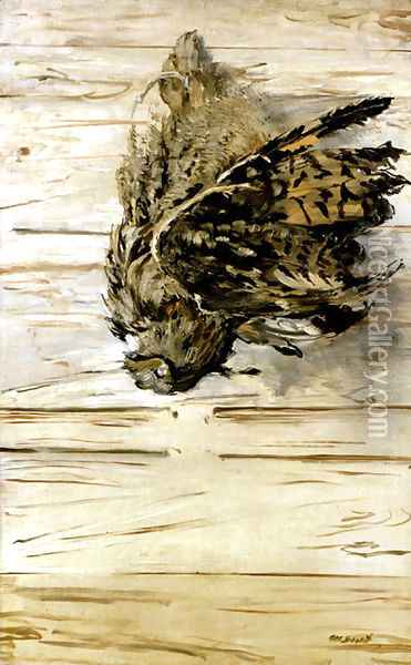The Great Horned Owl Oil Painting - Edouard Manet