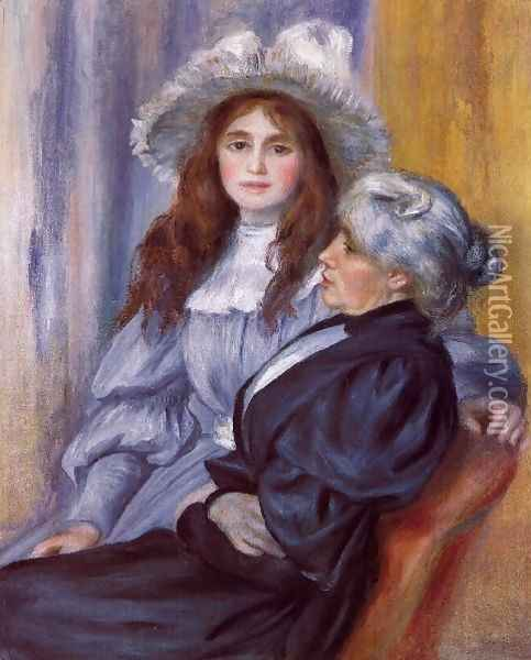 Berthe Morisot And Her Daughter Julie Manet Oil Painting - Berthe Morisot