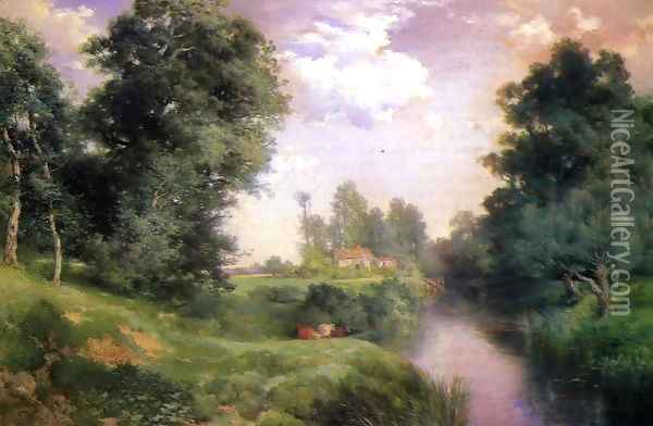 A Long Island River Oil Painting - Thomas Moran